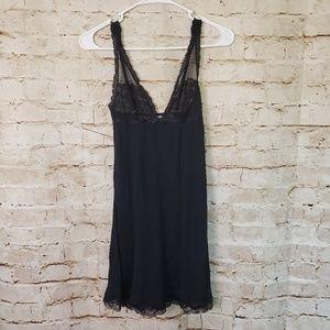 Victoria's Secret Small Black Chemise Nightie